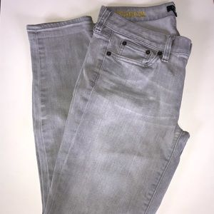 J Crew Factory Grey Toothpick Skinny Jeans